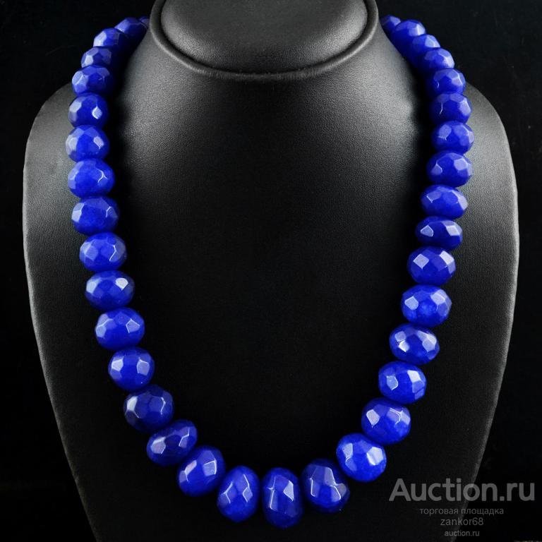 Бусы, ожерелье из природных натуральных драгоценных сапфиров, Индия, ручная работа, 1019 Ct
