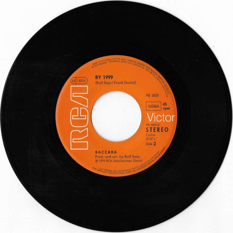 """Baccara """"Ay,Ay Sailor"""" 1979 Single"""