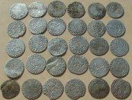 Кошель - 30 монет . ПОЛЬСКО-ЛИТОВСКИЙ ПОЛТОРАКИ 17 ВЕК СЕРЕБРО . СИГИЗМУНД III !!!