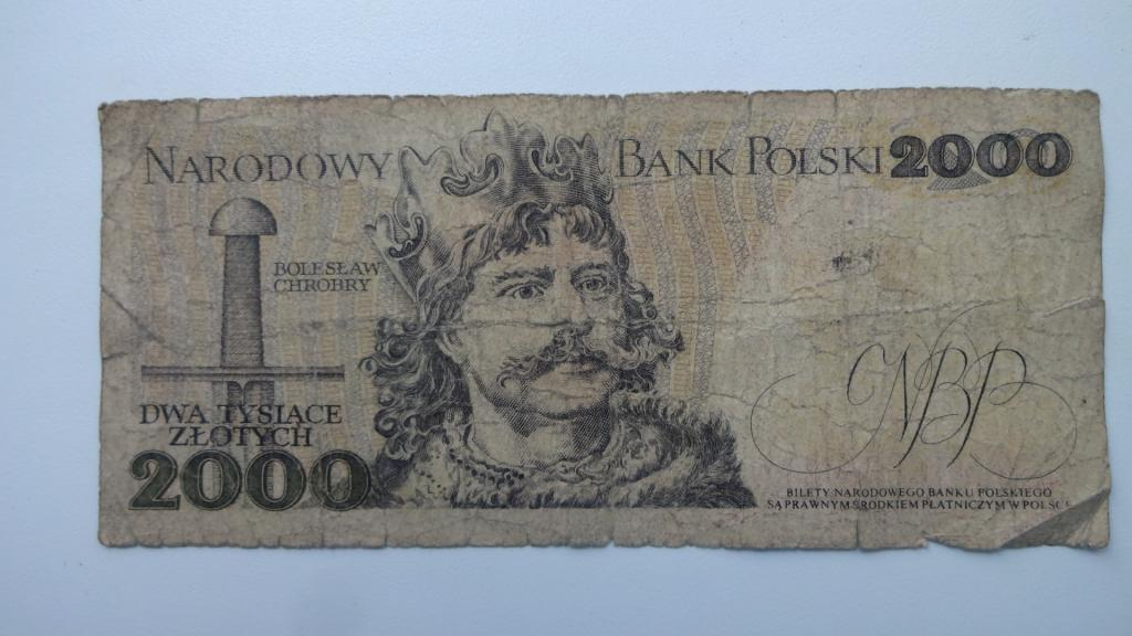 2000 злотых 1979 год Польша Мешко и Болеслав не частая