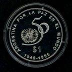 1 песо . Аргентина .1995 год .