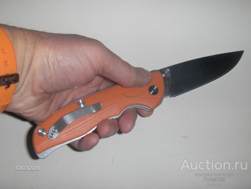 Navy нож-складной 8 Cr 13Mov оранж новый в коробке, великолепный подарок! Назначение туризм.