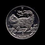 Остров Мэн 1 крона 1993 Мейн-кун aUNC-UNC