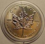 5 долларов 2013 год. Канадская кленовая ветвь. Канада. Серебро,999!