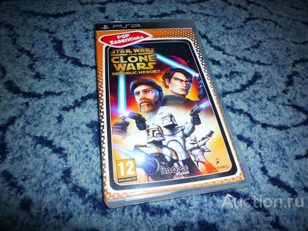 Star Wars - The Clone Wars Republic Heroes - Sony PSP Playstation Portable