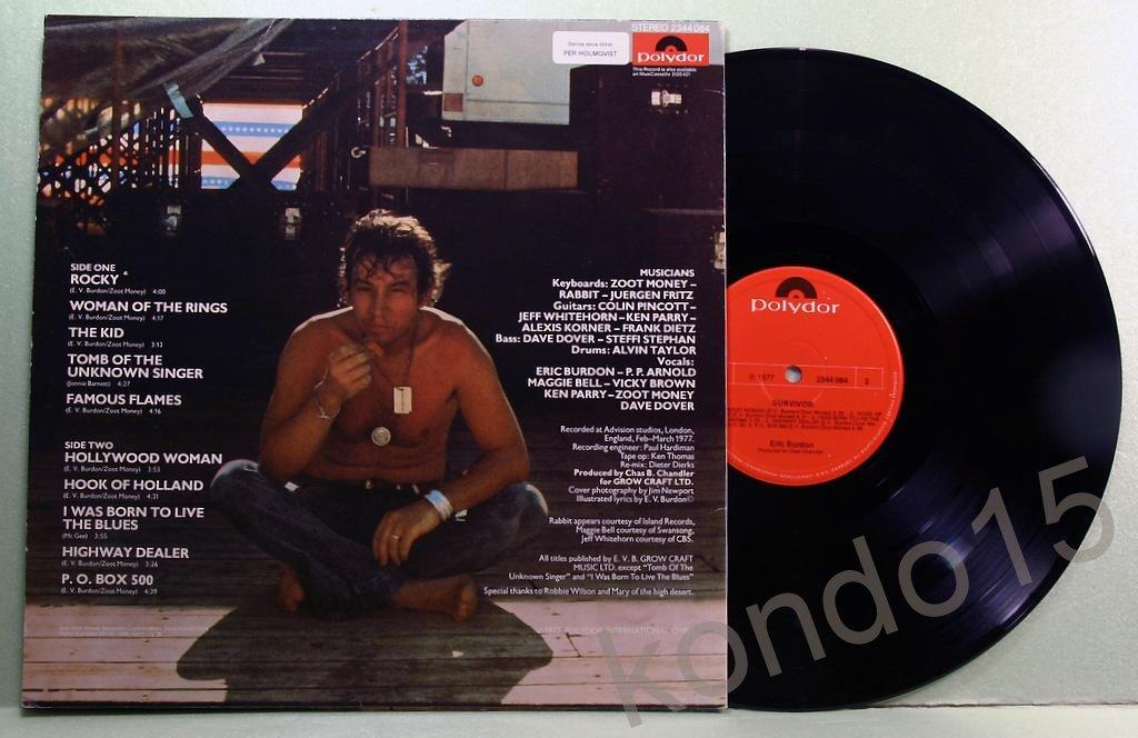 ERIC BURDON SURVIVOR Ориг.Sweden -----       MINT