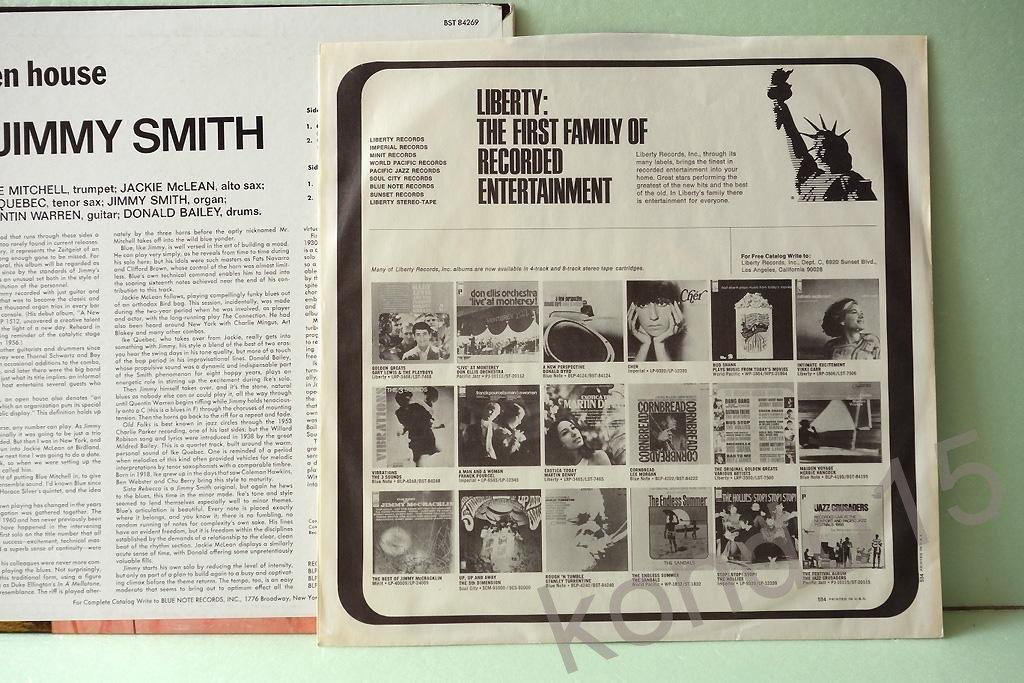 JIMMY SMITH OPEN HOUSE Ориг.USA --  MINT