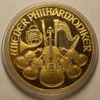 2000 Шиллингов 1991 год. Австрия. Филармоникер. Золото 31.1 грамм (1 oz) - 999 проба!