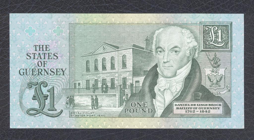 Гернси. 1 фунт. 1980 г. UNC