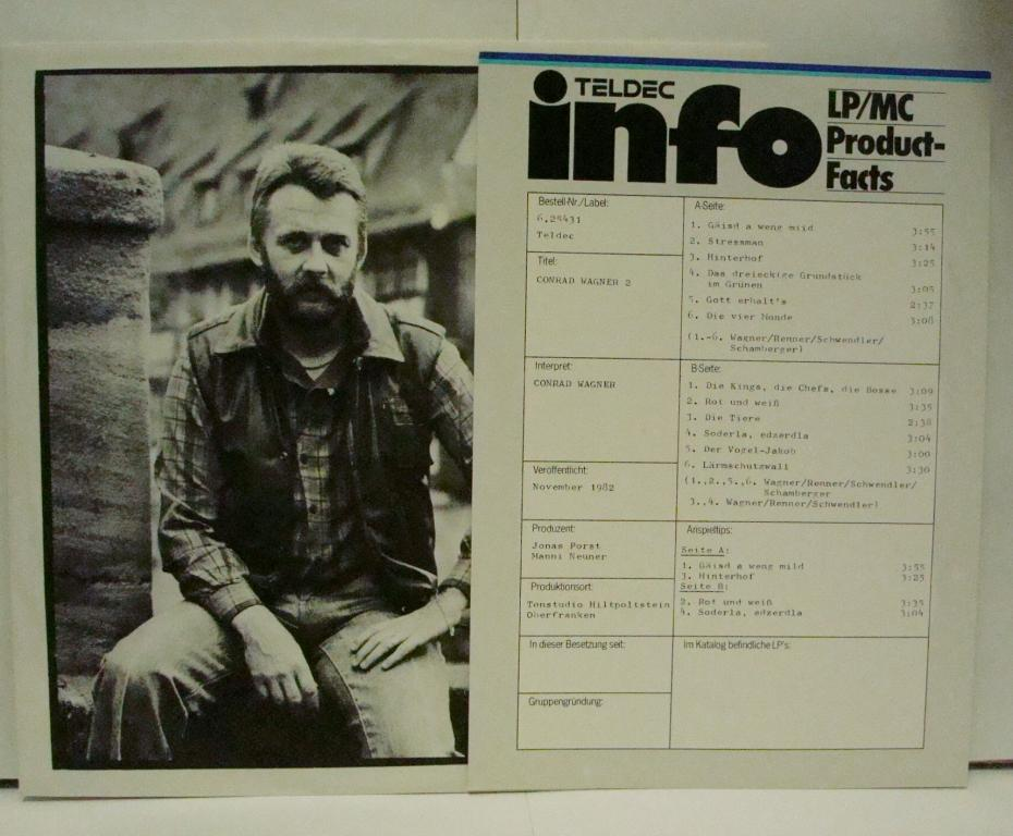 CONRAD WAGNER - 2 1982  Teldec Germany LP