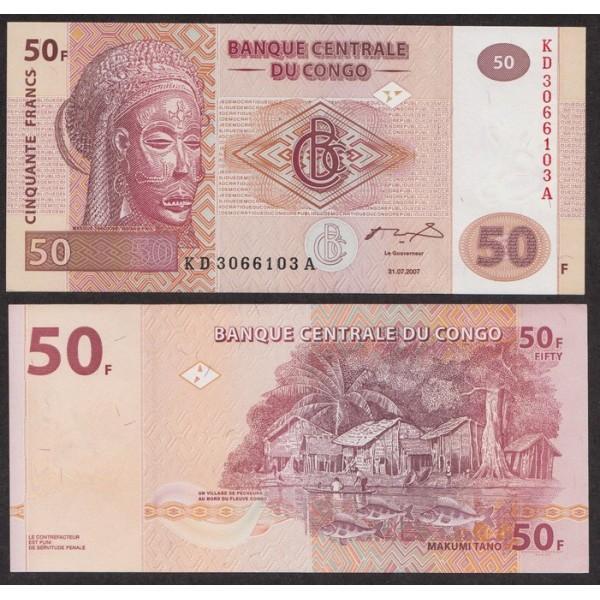 Конго 50 Франков 2007 new UNC (ПРЕСС)
