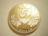 Карибы. Ангилья.1 доллар 2014 г.PROOF,серебро,капсула.R!
