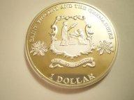 Восточные Карибы. Сент Винсент и Гренадины.1 доллар 2014 г.PROOF,серебро,капсула.R!Экзотика! С рубля