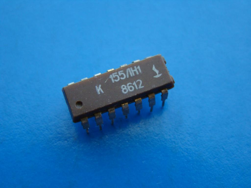Микросхема К155ЛН1. Рабочая Б/У.  #Z825