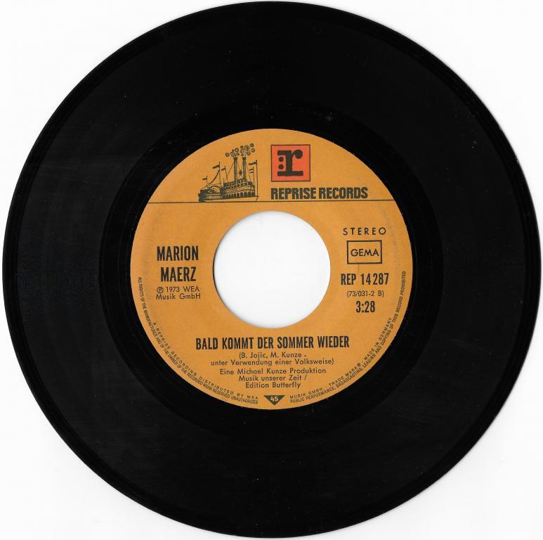 "Marion Maerz ""WeiSe Wolken"" (Demis Roussos)"" 1973 Single"