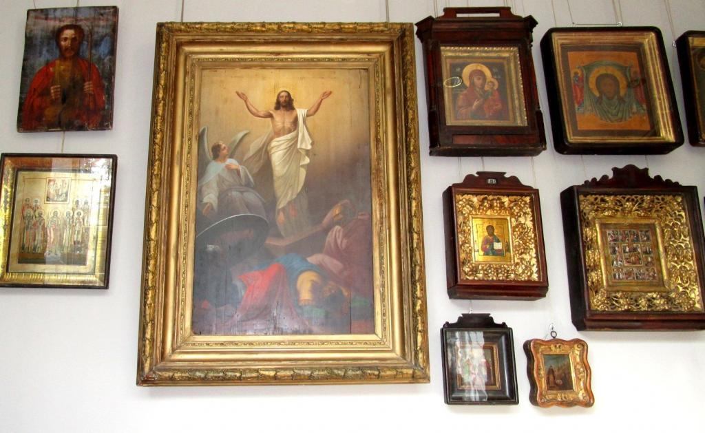 Огромнейшая Икона 19 века ПАСХА Воскресение Христово Музейный Уровень в Люксе На Дереве - Во Дворец