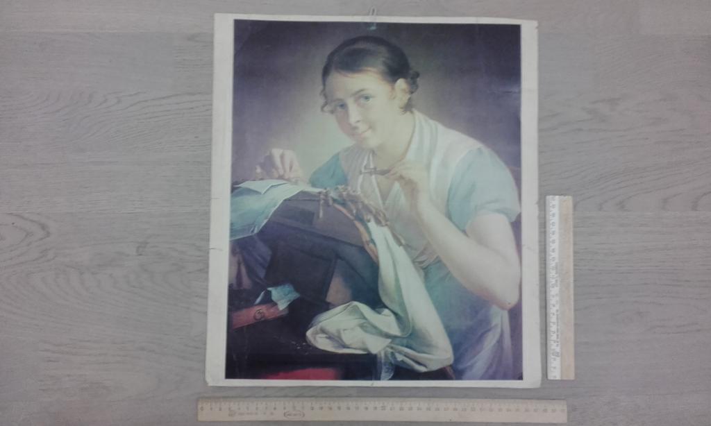 Картинка вышивальщица