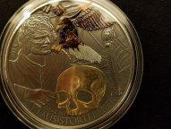 Ниуэ 5 долларов 2014 Клаус Штёртебекер Пират Балтики Орёл 5 унций Серебро позолота Антик Тираж 350