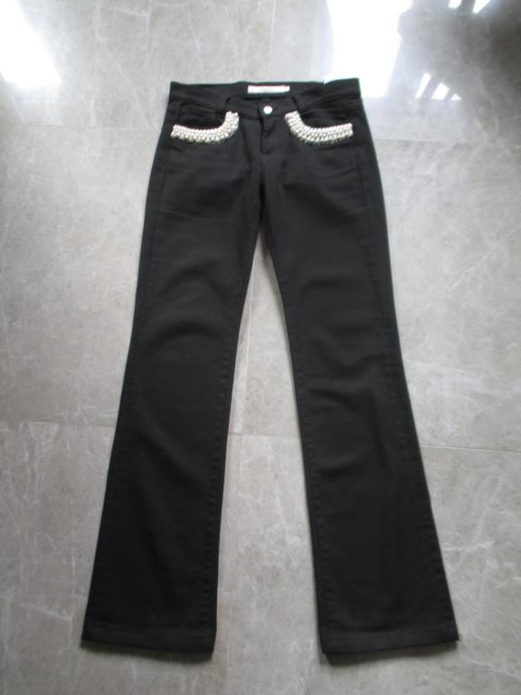 Valentino брюки жемчуг черные хлопок оригинал 38ит