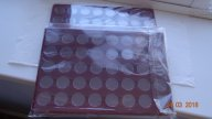 2 планшета на 80 монет диаметр 22 мм 10 рублей гальваника