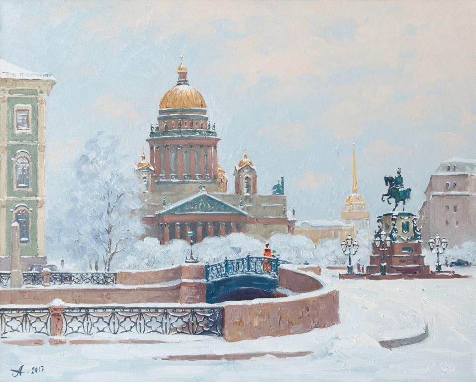 рисунок петербурга зимой странице лайм