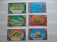 Марки - Фауна. Болгария. Полная серия (6 шт.) Динозавры. 1989 год.