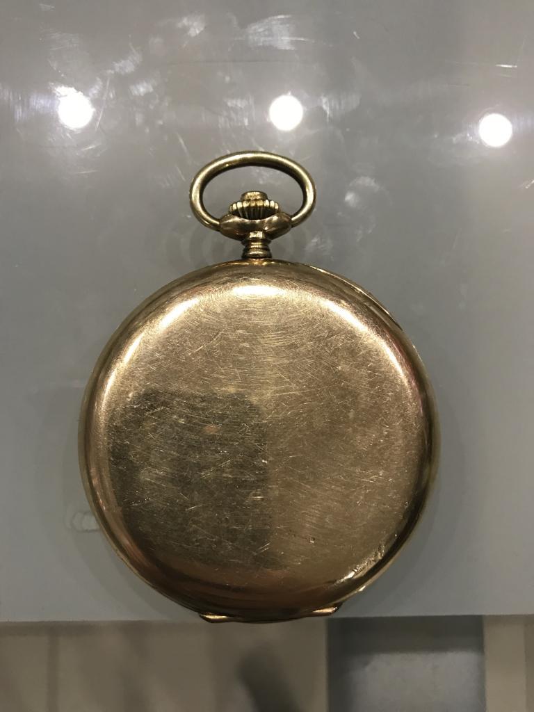 Карманные Часы Золото 56 проба Крышка Латунь