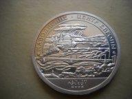 """10 разменный знак Шпицберген, """"Наводнение центр Европы"""", 2002 год"""