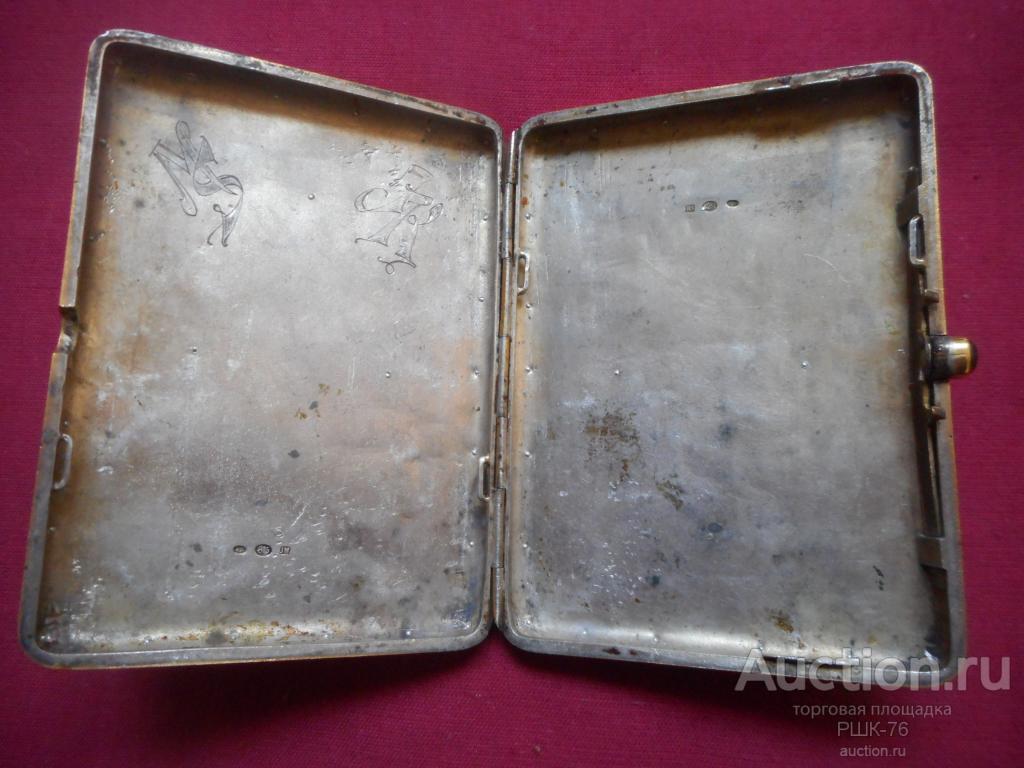 портсигар эмаль серебро.