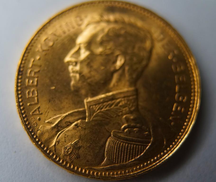 Бельгия 20 франков 1914, золото!