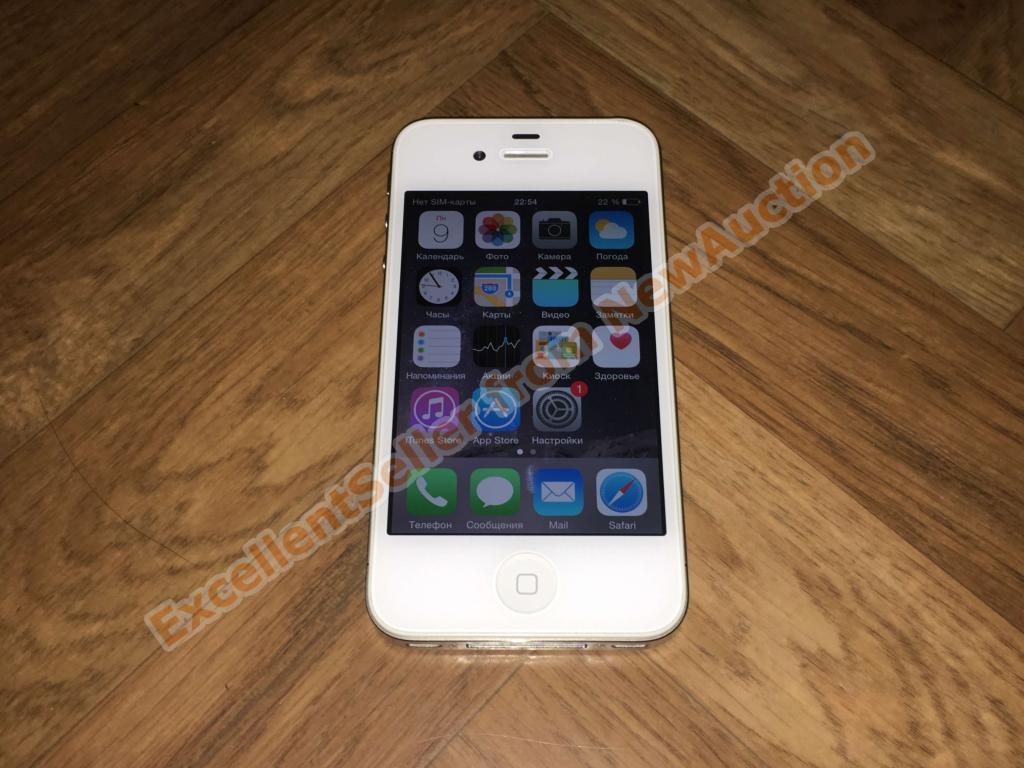  Apple iPhone 4S 8GB White, идеальное состояние, комплект в коробке, с 1 руб.