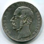 Ганновер. Георг V. 2 талера (3-1/2 гульдена) 1855 года. Серебро!
