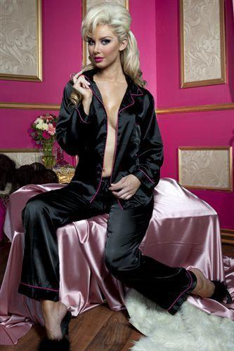 Seven`til Midnight Секси-пижамка из штанишек и рубашки (L / черный)