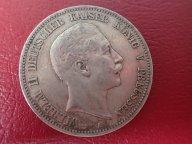 5 марок 1900  ( А) Пруссия Германия   .ОРИГИНАЛ ! СЕРЕБРО ! / Н 100