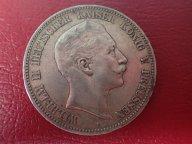 5 марок 1907  ( А) Пруссия Германия   .ОРИГИНАЛ ! СЕРЕБРО ! / Н 104