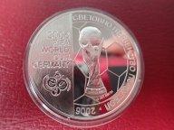Болгария 5 лева 2003 ПРУФ . футбол ЧМ 2006  .ОРИГИНАЛ !!СЕРЕБРО/ Н 91