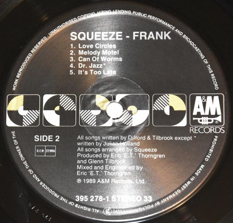 "Squeeze ""Frank."" 1989 Lp"
