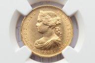 10 эскудо 1868 года. Испания. MS63