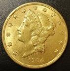 США 20 долларов 1904 ЗОЛОТО почти по цене металла!