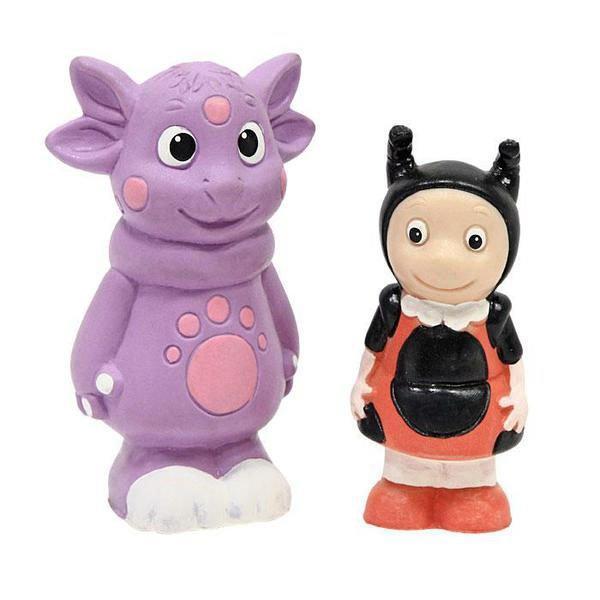 Игрушка для ванной Лунтик и божья коровка, 2шт