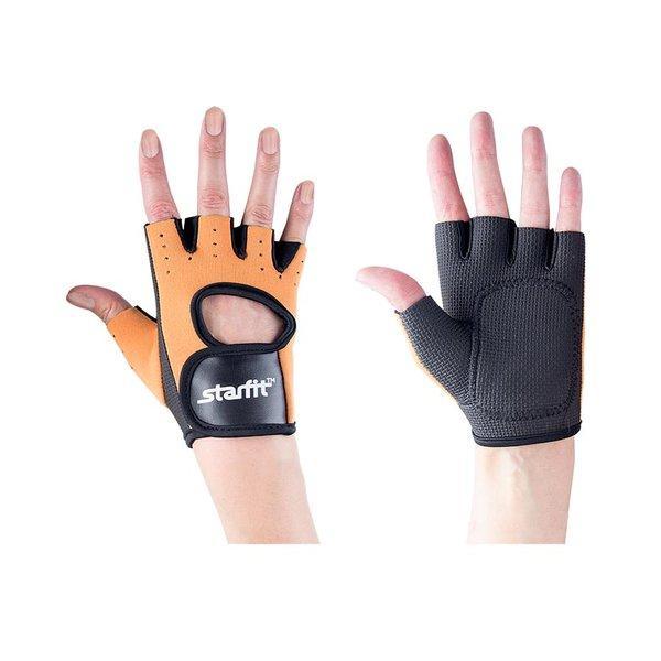 Перчатки для фитнеса STARFIT SU-107 песочные/черные р.M
