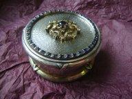 Старинная, антикварная шкатулка, КФ, Серебро 84