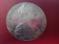 Австрия 1 талер 1780 Мария Терезия официальный рестрайк .ОРИГИНАЛ !!СЕРЕБРО . / О 54