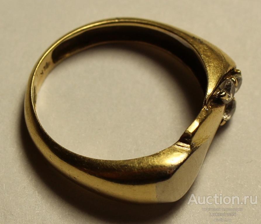 Кольцо женское золотое с полудрагоценными камнями. Клеймо, Золото, 583 проба. Вес: 3,2 грамма.