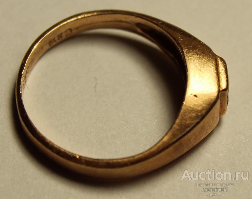 Кольцо женское золотое с полудрагоценным камнем. Клеймо, Золото, 585 проба. Вес: 1,7 грамм.