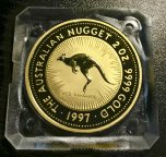 "Золотая монета 200 долларов ""Кенгуру"", 1997г. Австралия, 2 oz, Au9999, С РУБЛЯ!"