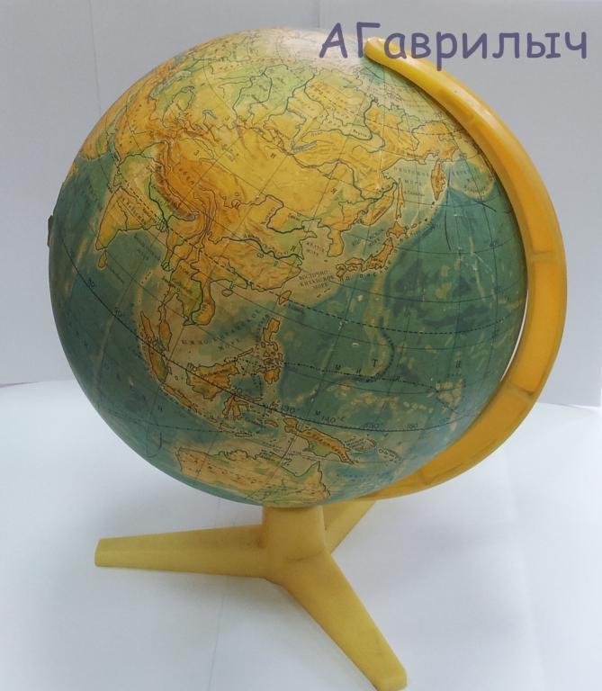 Глобус школьный советский СССР