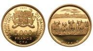 Дагомея 5000 франков 1971. PROOF. Au 0.900. 17.77г. 0.5142 oz. Тираж 610 шт. Крайне редкие!