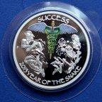 1 доллар 2013 год. Год Змеи. Серебро в цвете. Монета в подарочном конверте.