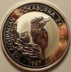 2 доллара 1997 год. Австралийская Кукабурра. Австралия. Серебро 999 - 62.2 гр. (2 oz). Редкая!